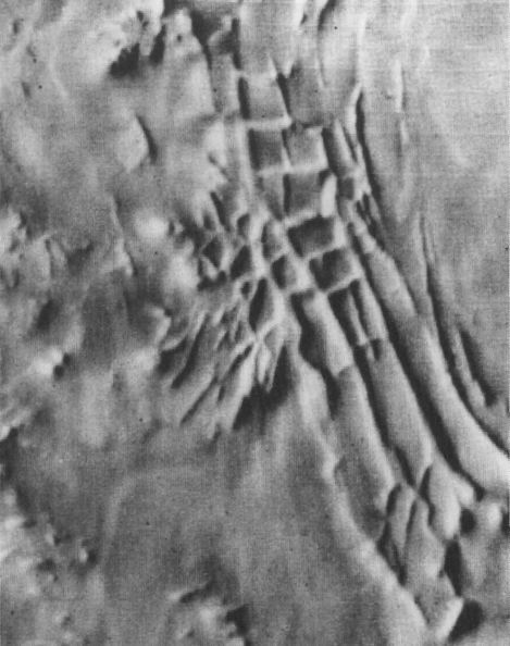 Inca City imaged by Mariner 9 - Image Credit - Mariner 9/NASA